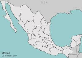 map of mexico with states customize a geography quiz mexico states lizard point
