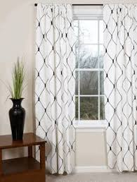 Black And White Draperies Contemporary Curtains For Living Room Popular Bathroom