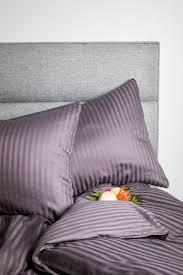 luxurious 100 egyptian cotton satin stripe bed linen u2013 uniq home