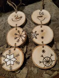 wooden christmas ornaments wood burned snowman christmas ornaments stacked snowman