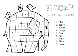 coloring page of elmer the elephant and for glum me