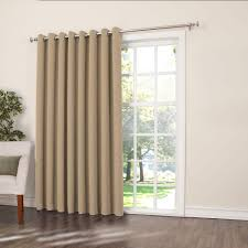 Thermal Curtains Patio Door by Sun Zero Semi Opaque Taupe Gregory Room Darkening Grommet Top