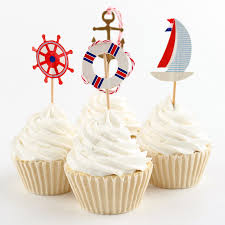 aliexpress com buy navy anchor sailor cupcake topper nautical