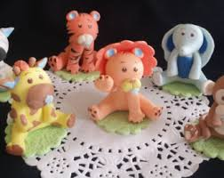 safari animals cake topper baby animal baby shower jungle