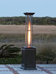 Stainless Steel Patio Heaters mocha finish square lpg propane heater 60804