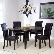 5 piece dining set upholstered room chairs counter height table