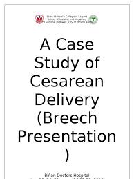Case Study Essay Format Case Study Of Cesarean Section Uterus