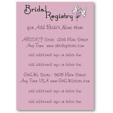 wedding registry invitation wedding invitation gift list wording paperinvite