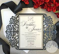 Wedding Invitations Packages Laser Cut Swirl Enclosure Invitation Package U2014 Wedding Invitations