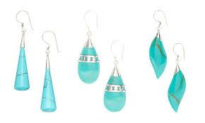 turquoise drop earrings genuine turquoise drop earrings groupon goods
