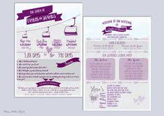 Personalized Wedding Programs Infographic Wedding Program Fun Wedding Program By Peekaboopenguin