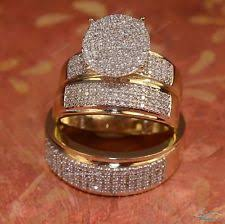 His And Her Wedding Rings by Sterling Silver Diamond Engagement U0026 Wedding Ring Sets Ebay
