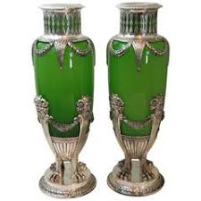 Opaque Vases Fine Pair Of Antique French Opaque White Opaline Glass Vases For