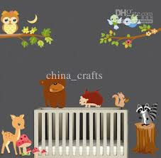 Kids Room Wall Stickers by Removable Wall Art Stickers The Forest Animals Wall Decal Kids
