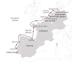 Map Western Europe by Navigating The Bays And Islands Of Western Europe Hurtigruten Us