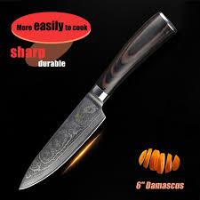 couteau de cuisine haut de gamme 6 pouces chef couteau de cuisine damas couteaux japonais haut de