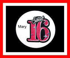 birthday girl pin birthday party favor personalized button sweet 16 pin favor