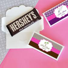 for bridal shower personalized candy chocolate bar wrappers