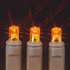 brown wire wide angle orange 50 bulb led lights