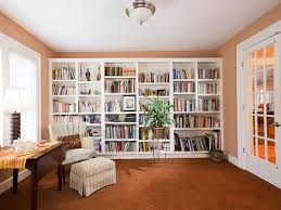 private home library design for kids