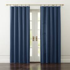 Blue And Grey Curtains Taylor Midnight Blue Curtains Crate And Barrel