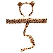 amazon com plush leopard headband ears and tail toys u0026 games