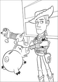 hamm woody sheriff slinky dog toy story coloring pages boys
