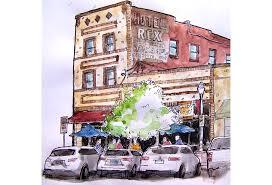 urban sketching moonshine ink