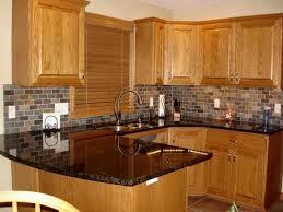 oak cabinets with granite kitchen kitchen idea ideas attractive grey dark granite oak cabinets