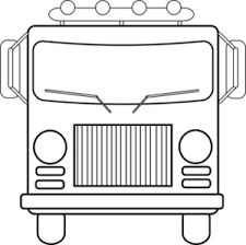 fire engine clipart image head fire truck coloring