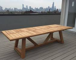 Cedar Patio Table Hand Made Western Red Cedar Outdoor Dining Table By Dereva