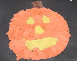 Construction Paper Halloween Crafts by Paper Jack O Lanterns