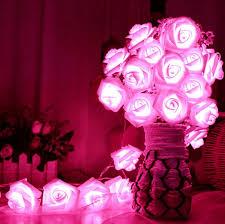 String Of Flower Lights by 2017 Romantic 20 Led Lighting Rose Flower String Fairy Lights Home