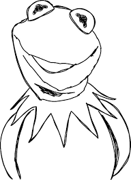 kermit frog coloring pages coloring sky