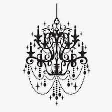 Black Chandelier Clip Art Antique Chandelier In Vintage Picture Frame Silhouette Digital