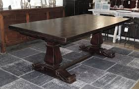 large trestle dining table large trestle dining table with extensions dining tables