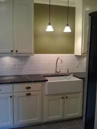 Kitchen Sink Lighting Ideas Classic White Traditional Kitchen Sink With No Window Kitchens