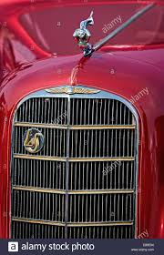detail view of grill logo emblem and ornament of a general