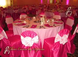 Table Covers For Rent Chicago Chair Covers For Rental In Fuschia In The Lamour Satin Fabric