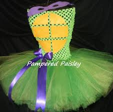 teenage mutant ninja turtles inspired donatello tutu dress