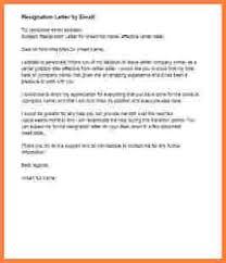 8 resignation letter email samples resignition letter