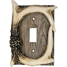 light switch covers amazon rivers edge products deer antler single switch electrical cover