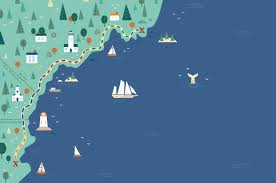 New England Coast Map by Hit The Road Choice Hotels