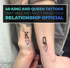 tattoo of queen and king 40 king queen tattoos that will instantly make your relationship