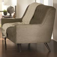 Love Seats Contemporary Dove Grey Love Seat W Exposed Wood Legs