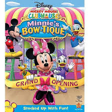 disney mickey mouse clubhouse minnie u0027s bow tique dvd toys