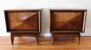wood cube end table mid century modern side end tables by united picked vintage