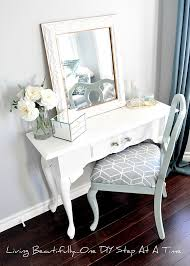 Makeup Vanity Tray Living Beautifully One Diy Step At A Time Vanity Reveal