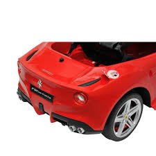 Ferrari F12 Back - amazon com ferrari f12 kids 6v electric ride on toy car w parent