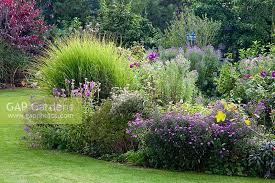 gap gardens perennial border with ornamental grass glass